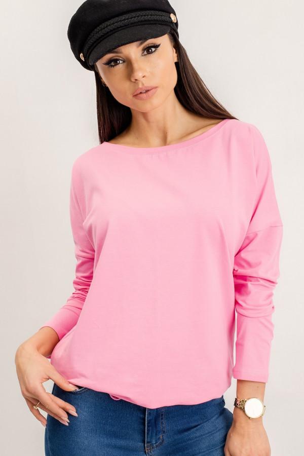 Różowa bluzka ze ściągaczem Nadir