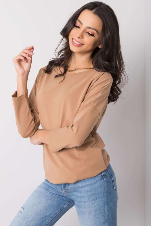 Karmelowa bluzka ze ściągaczem Taurus