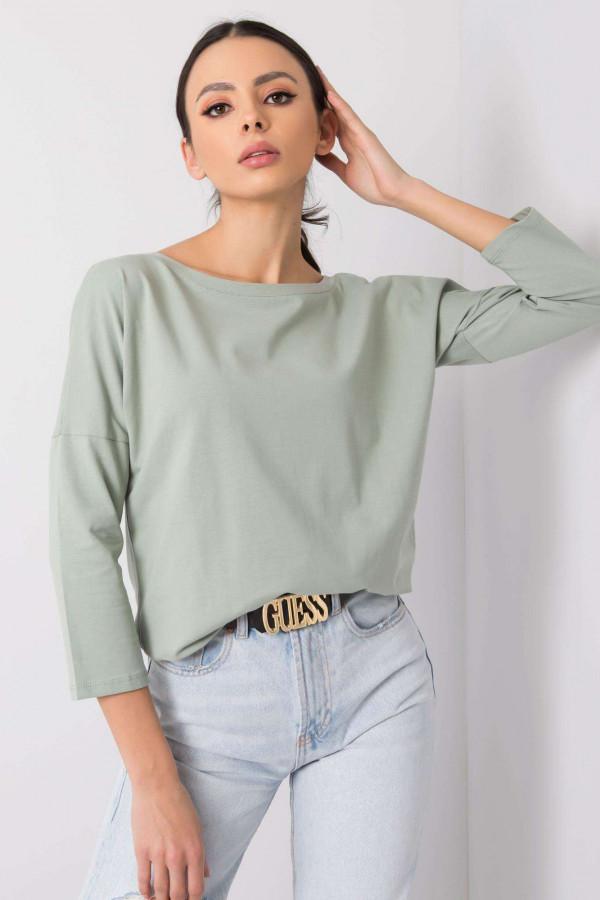 Pistacjowa bluzka ze ściągaczem Taurus