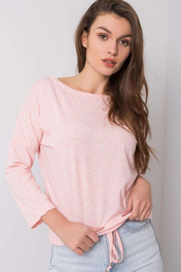 Różowa melanżowa bluzka ze ściągaczem Taurus