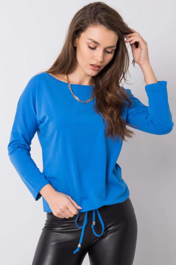 Ciemnoniebieska bluzka ze ściągaczem Taurus