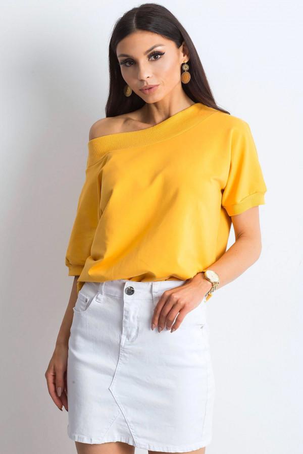 Ciemnożółta bluzka z ściągaczami Mossa