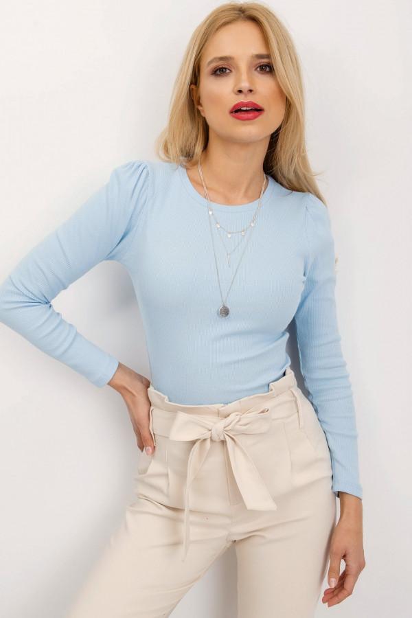 Jasnoniebieska bluzka z bufkami Loste