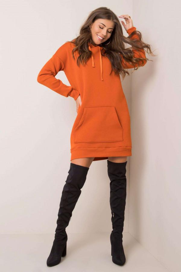 Pomarańczowa sukienka bluza kangur Detroit