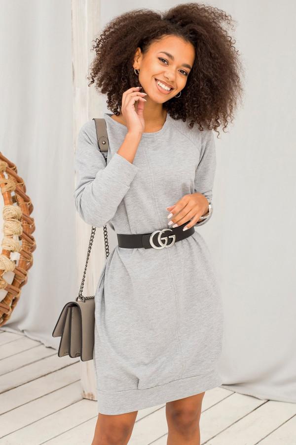 Szara sukienka bluza z kieszeniami Glove