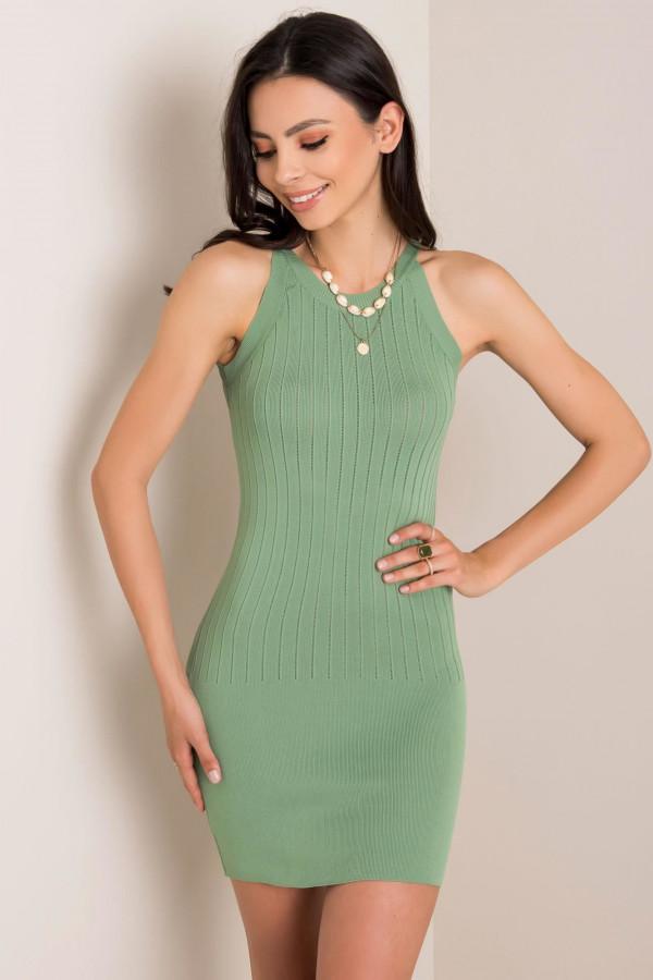 Khaki sukienka dopasowana mini Atena