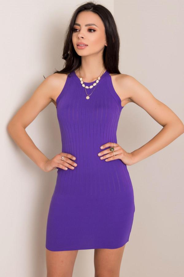 Fioletowa sukienka dopasowana mini Atena