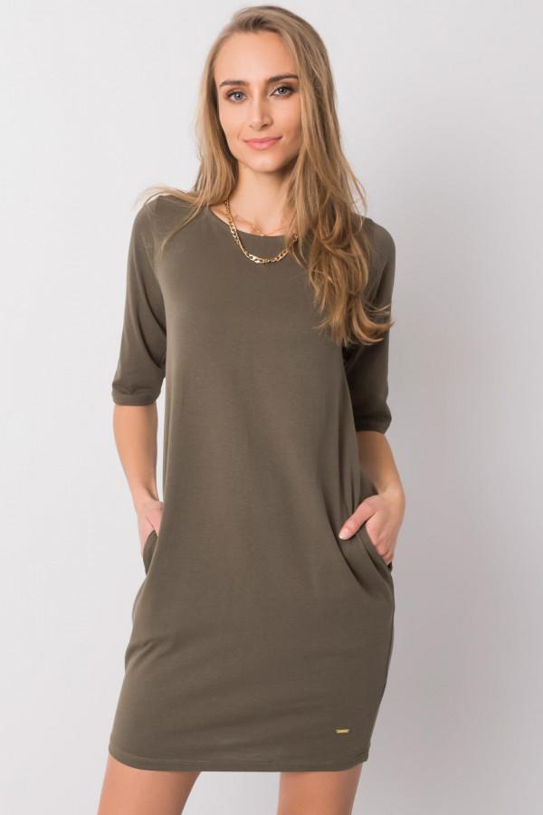 Khaki pro-ekologiczna sukienka Laredo