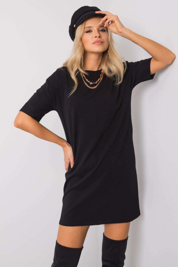 Czarna sukienka t-shirt Celano