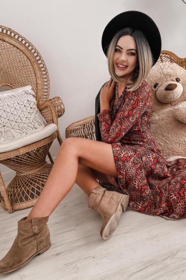 Wężowa sukienka szyfonowa maxi Scorpio