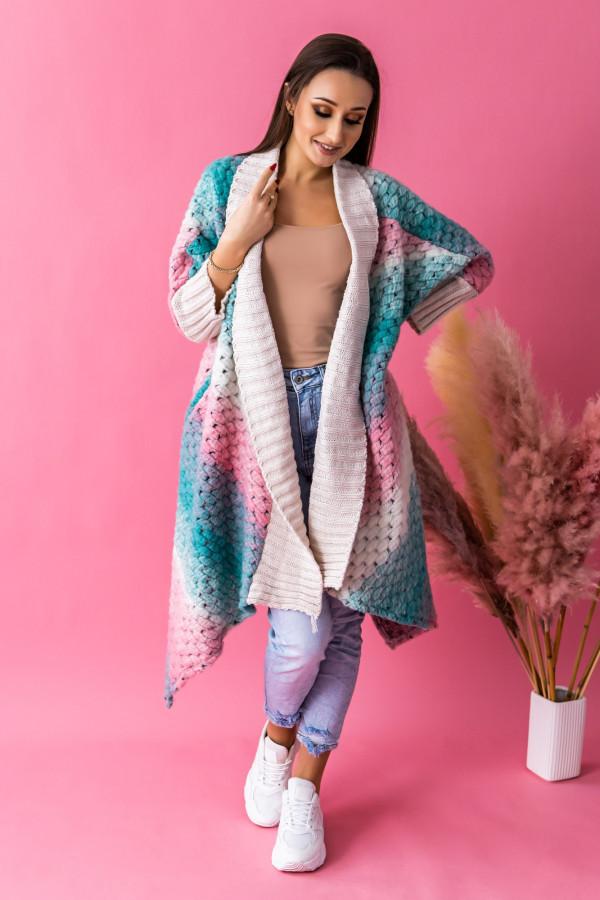 Morski sweter płaszczyk Famous