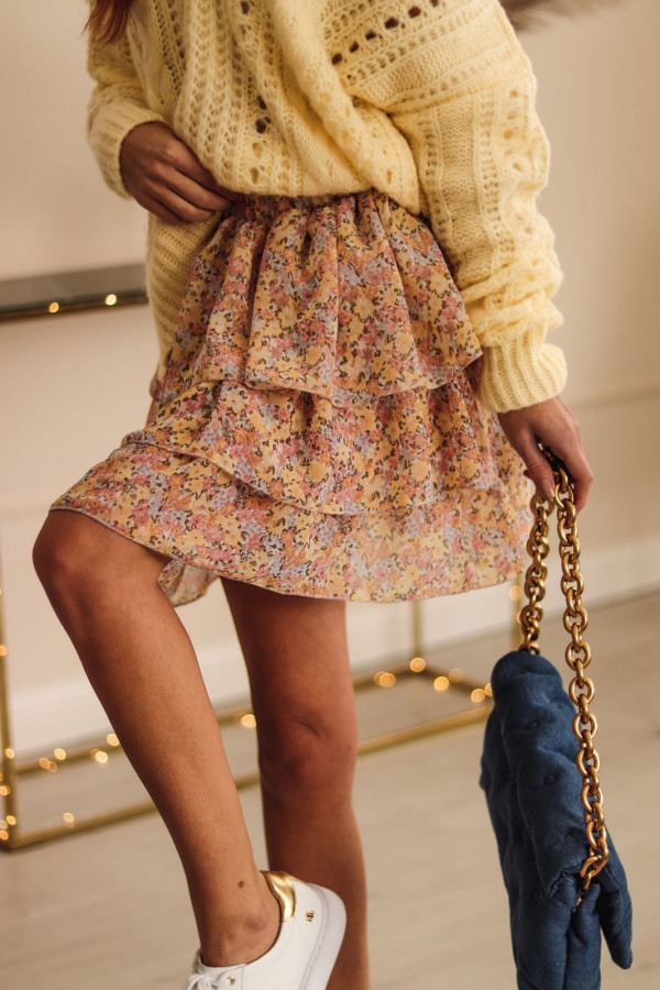 Kolorowa rozkloszowana spódniczka w kwiaty Katty