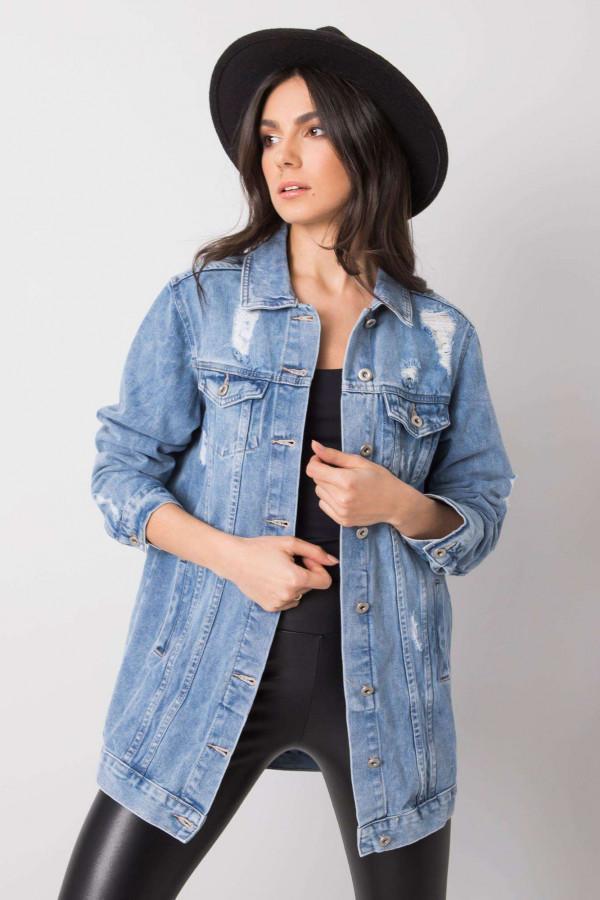 Niebieska kurtka jeansowa z przetarciami Ashley