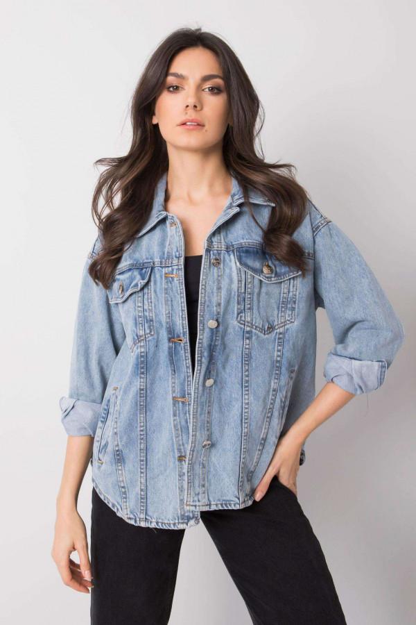 Jasnoniebieski kurtka jeansowa oversize Kharis