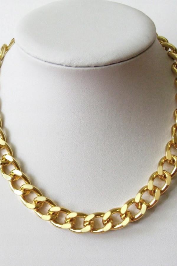 Złoty naszyjnik łańcuch choker Collar