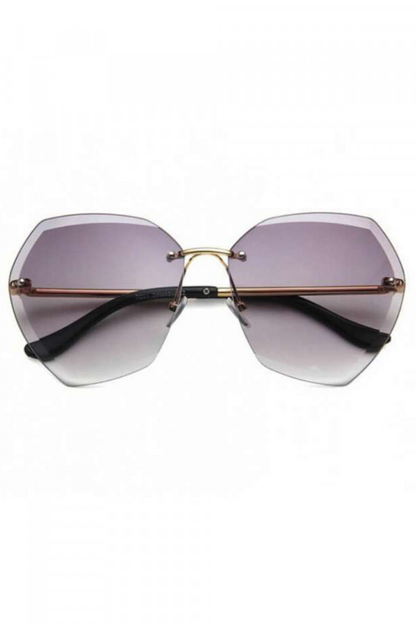 Jasnofioletowe okulary przeciwsłoneczne bez oprawek Wine