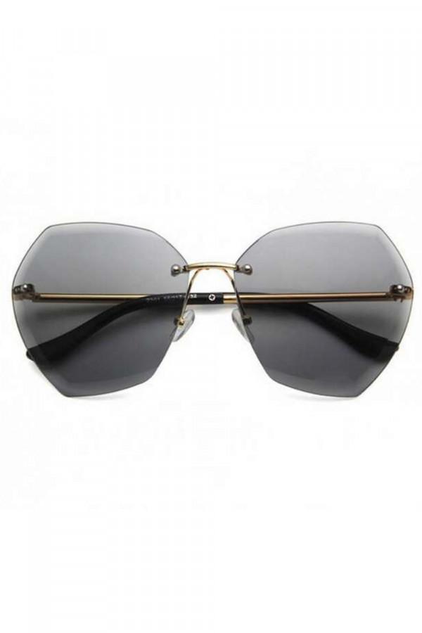 Czarne okulary przeciwsłoneczne bez oprawek Wine