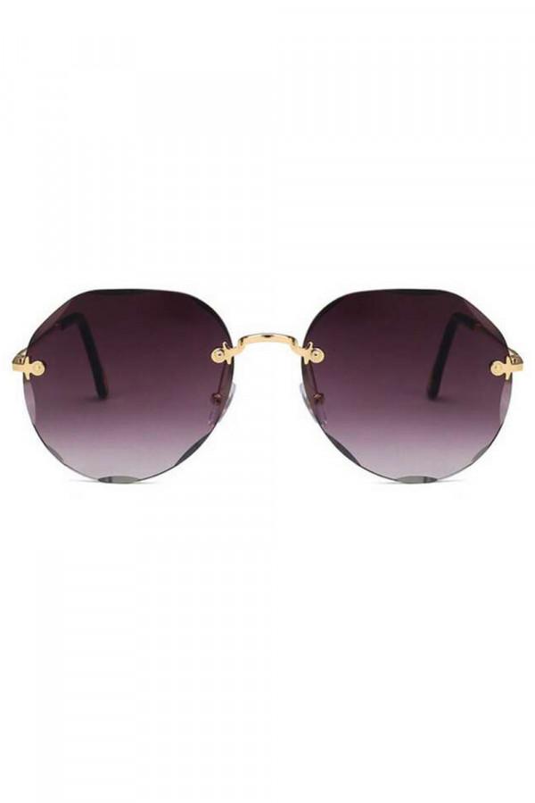 Fioletowe okulary przeciwsłoneczne kryształki bez oprawek Shine