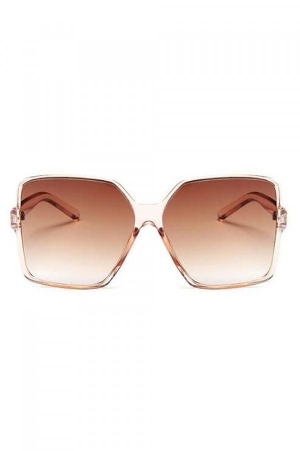 Brązowe duże okulary przeciwsłoneczne kwadraty Emily