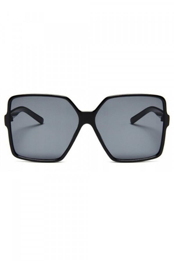 Czarne duże okulary przeciwsłoneczne kwadraty Emily