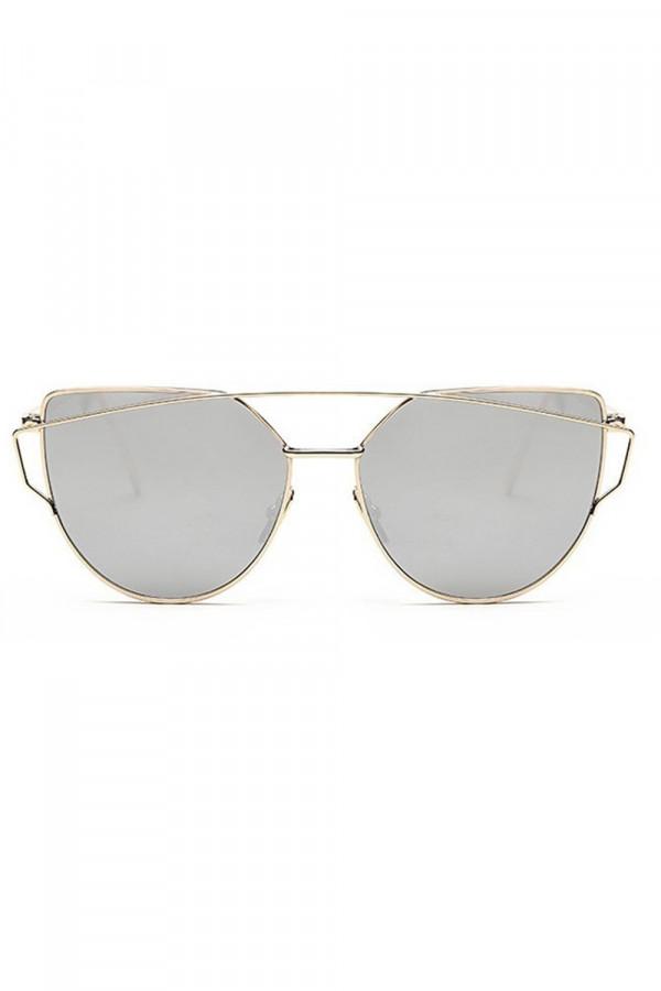 Lustrzane okulary przeciwsłoneczne nowoczesne aviatorki Selena