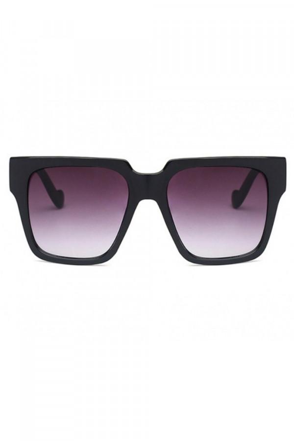 Czarne duże okulary przeciwsłoneczne ombre z matową oprawką Sally
