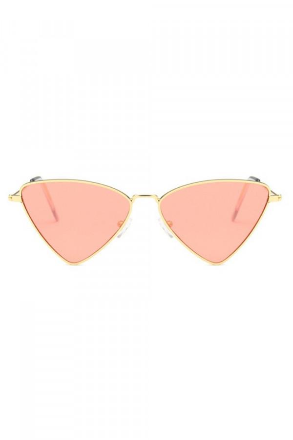 Pomarańczowe okulary przeciwsłoneczne romb Hailey