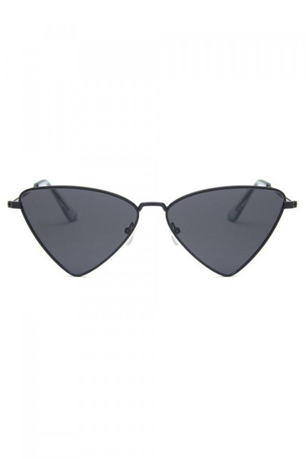 Czarne okulary przeciwsłoneczne romb Hailey