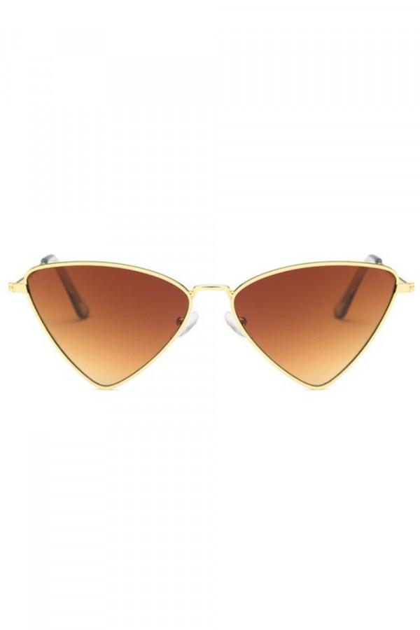 Brązowe okulary przeciwsłoneczne romb Hailey