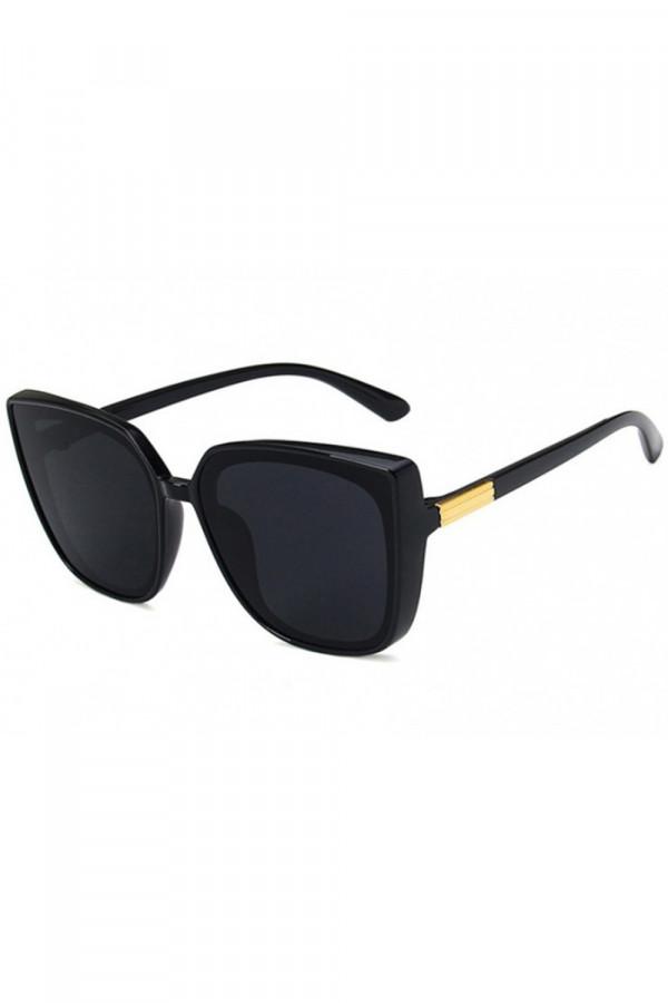 Czarne duże okulary przeciwsłoneczne osy Ivy