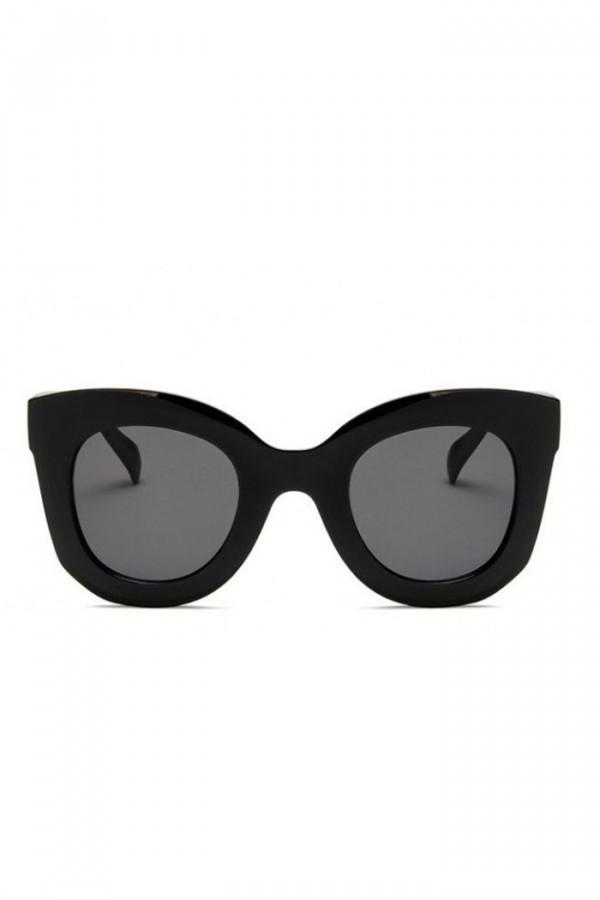 Czarne duże okulary przeciwsłoneczne kwadraty Semi