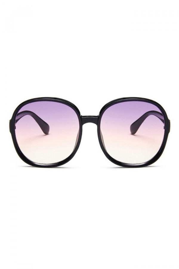 Czarne duże okulary przeciwsłoneczne diamenty Caroline
