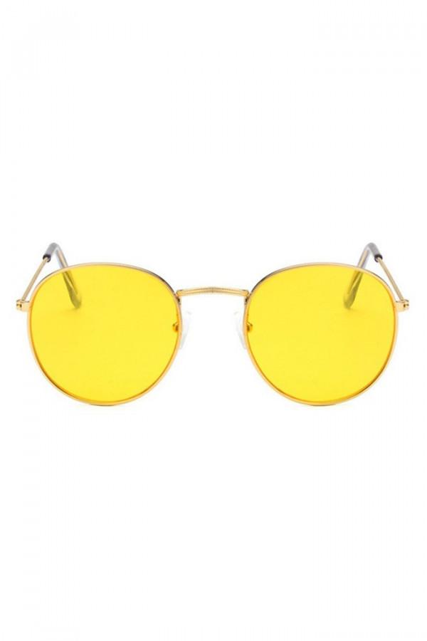 Żółte okulary przeciwsłoneczne okrągłe Summer