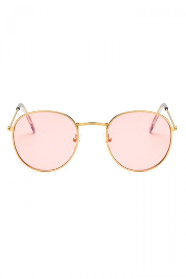 Różowe okulary przeciwsłoneczne okrągłe Summer