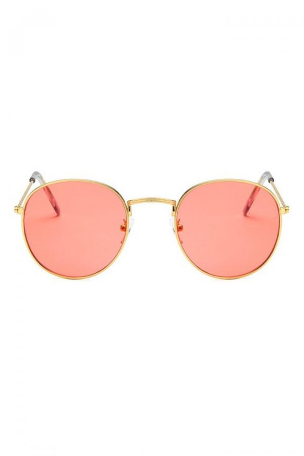 Łososiowe okulary przeciwsłoneczne okrągłe Summer
