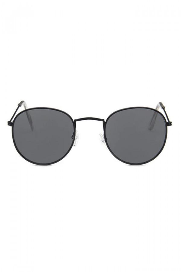Czarne okulary przeciwsłoneczne okrągłe Summer