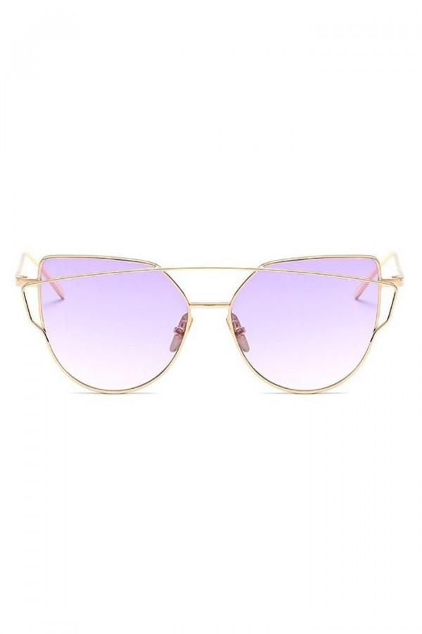 Fioletowe lustrzane okulary przeciwsłoneczne nowoczesne aviatorki Selena