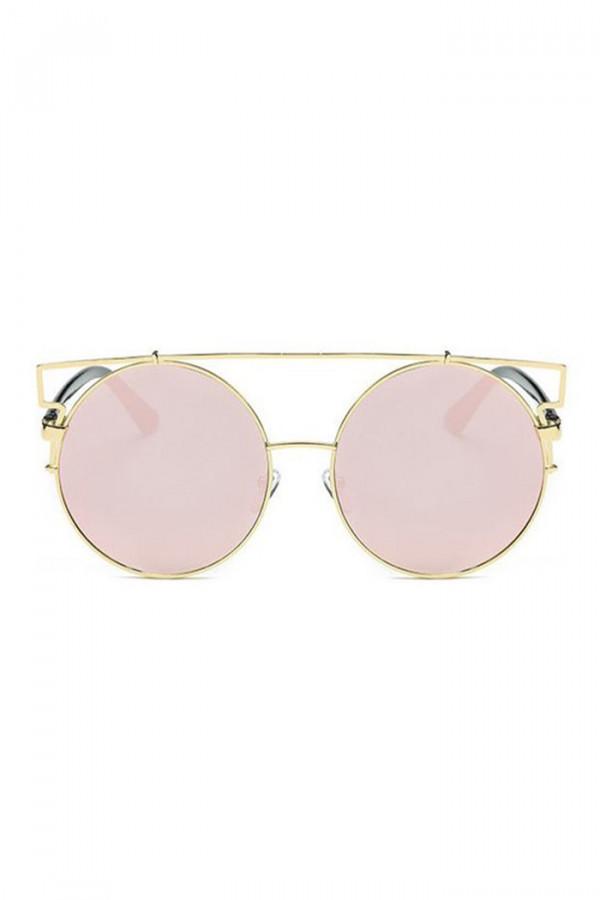 Różowe lustrzane okulary przeciwsłoneczne kocie oko Mirror