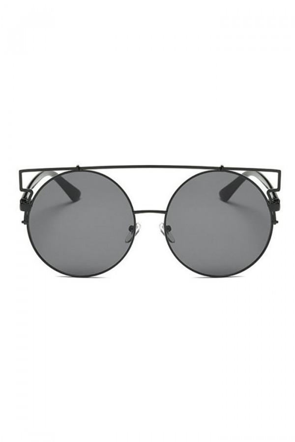 Czarne lustrzane okulary przeciwsłoneczne kocie oko Mirror