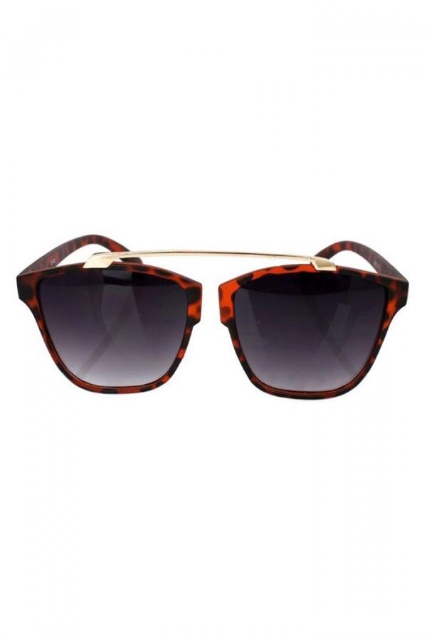 Czarne panterkowe okulary przeciwsłoneczne kocie oko Cherry