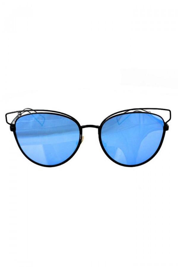 Niebieskie okulary przeciwsłoneczne motylki Dafne
