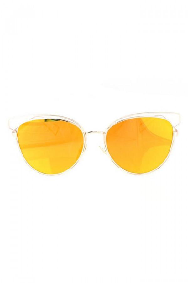 Pomarańczowe okulary przeciwsłoneczne motylki Dafne