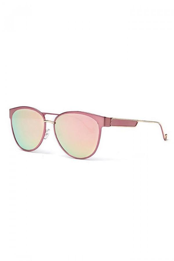 Różowe lustrzane okulary przeciwsłoneczne motylki Navia