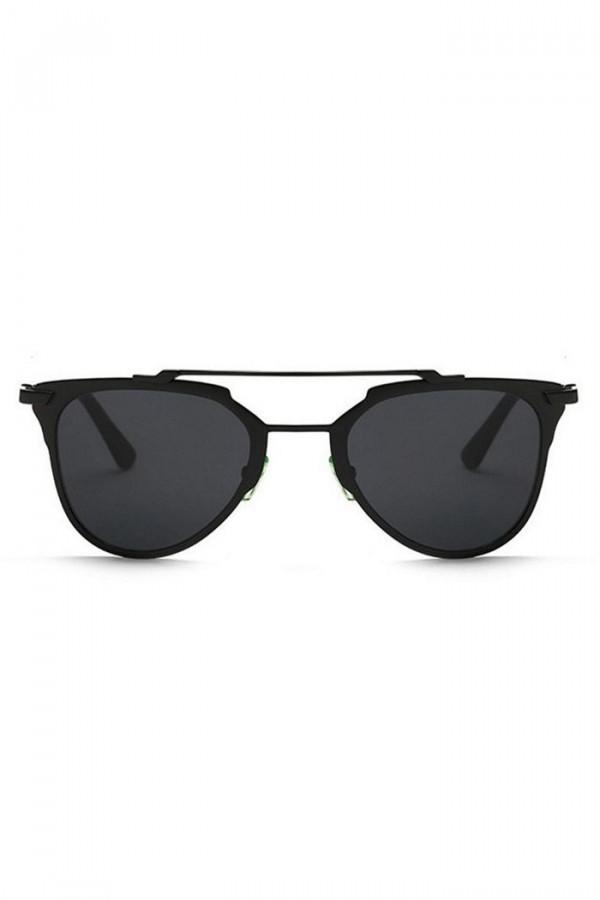 Czarne lustrzane okulary przeciwsłoneczne motylki Pamera