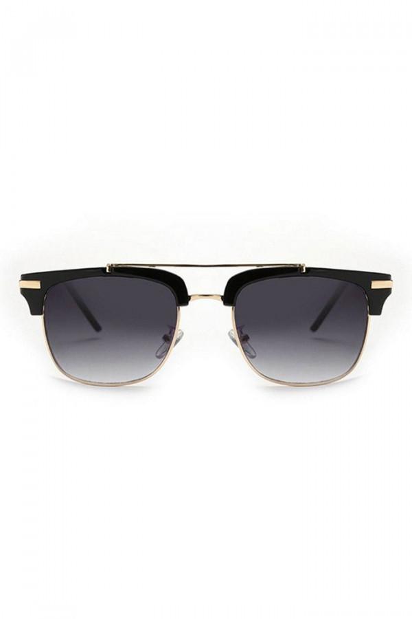 Czarne okulary przeciwsłoneczne clubmaster Georgi