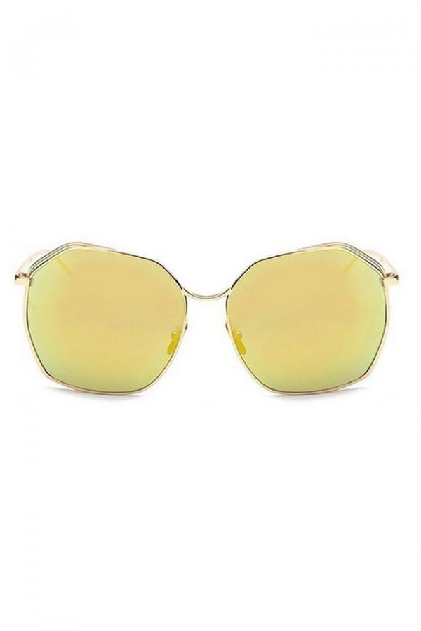 Żółte duże okulary przeciwsłoneczne kwadraty Jasmine