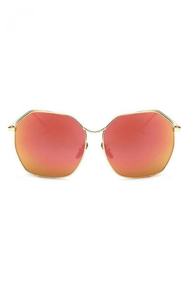 Czerwone duże okulary przeciwsłoneczne kwadraty Jasmine