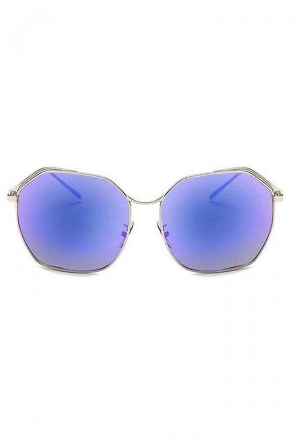 Niebieskie duże okulary przeciwsłoneczne kwadraty Jasmine