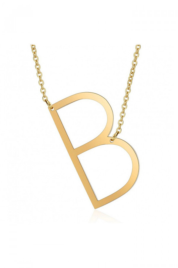 Naszyjnik celebrytka litera B
