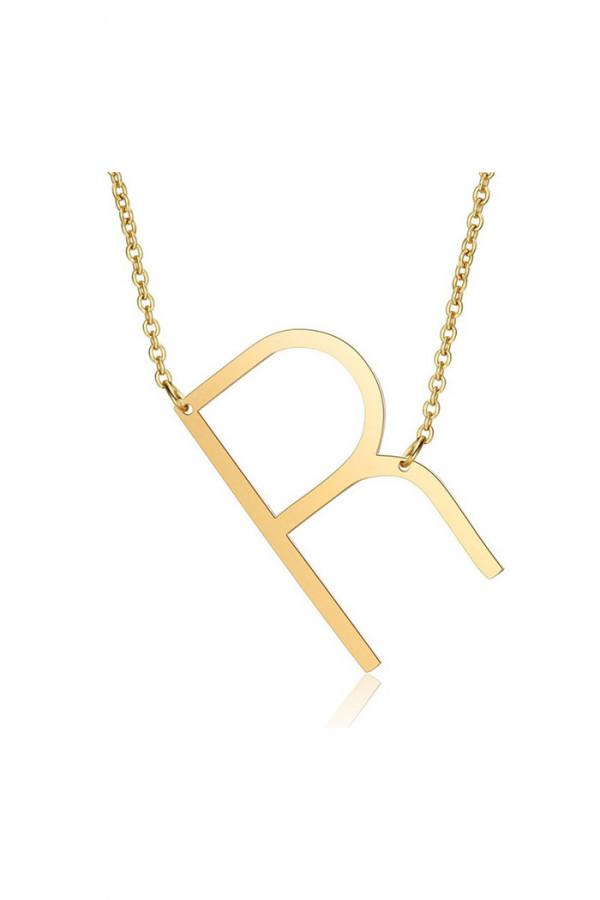 Naszyjnik celebrytka litera R